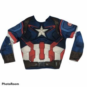 Boys padded Captain America Costume Top w/ muscles